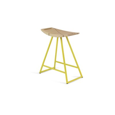 Roberts 18 inch Bar Stool Base Color: Yellow, Upholstery: Maple