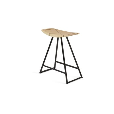 Roberts 18 inch Bar Stool Upholstery: Maple, Base Color: Black