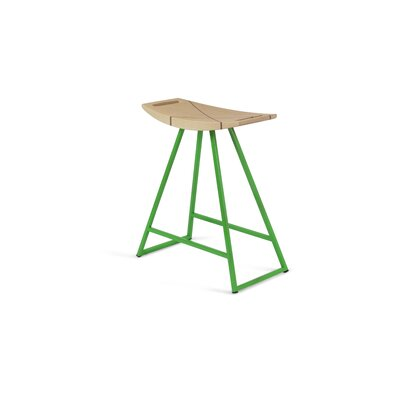 Roberts 18 Bar Stool Upholstery: Maple, Base Color: Green