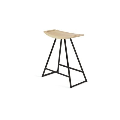 Roberts 18 Bar Stool Base Color: Black, Upholstery: Maple