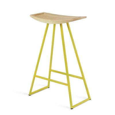 Roberts 24 Bar Stool Base Color: Yellow, Upholstery: Walnut