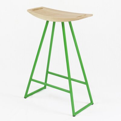 Roberts 24 Bar Stool Upholstery: Maple, Base Color: Green