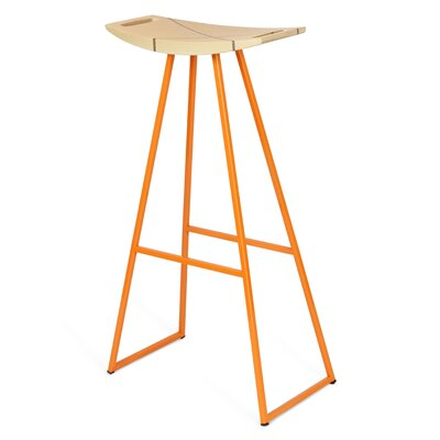 Roberts 30 Bar Stool Upholstery: Maple, Base Color: Orange