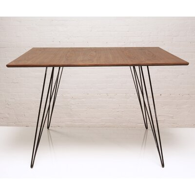 Williams Dining Table Finish: Black, Size: Large