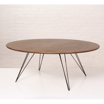 Williams Coffee Table Size: 18 H x 54 W x 46 D, Color: Black