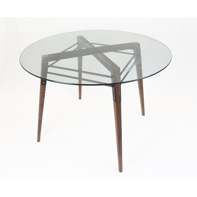 Ross Dining Table Color: Walnut/Black