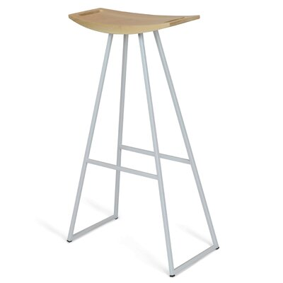 Roberts 30 Bar Stool Upholstery: Maple, Base Color: White