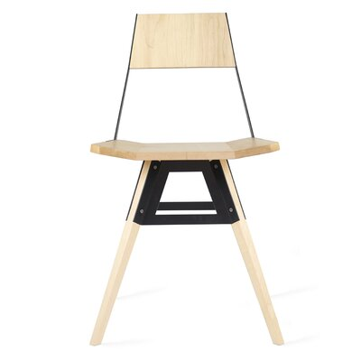 Clarke Solid Wood Dining Chair Color: Maple/Black