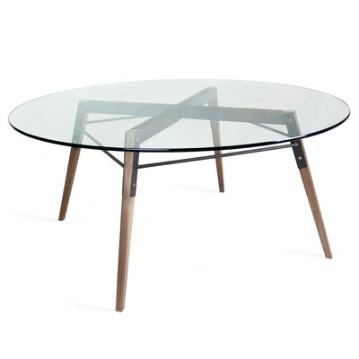 Ross Coffee Table Base Color: Walnut/Black
