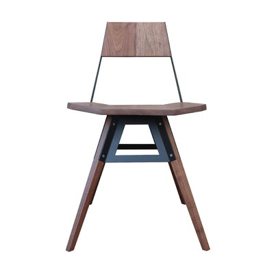 Clarke Solid Wood Dining Chair Finish: Walnut/Black