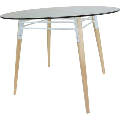 Ross Dining Table Color: Maple/White