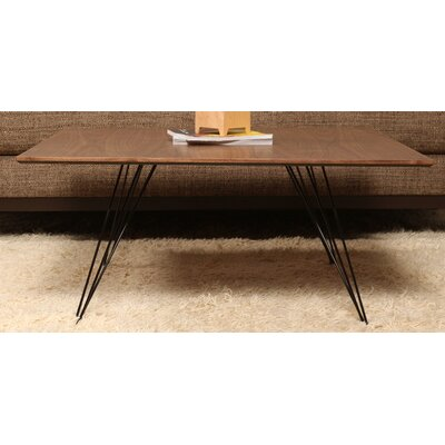 Williams Coffee Table Size: 18 H x 54 W x 23 D, Color: Red