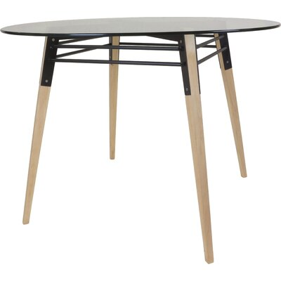 Ross Dining Table Color: Maple/Black