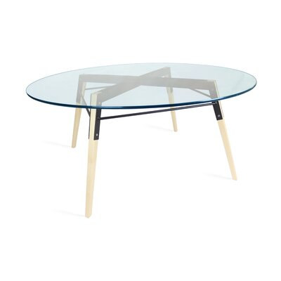 Ross Coffee Table Base Color: Maple/Black