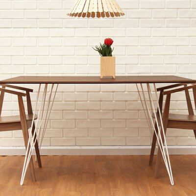 Williams Dining Table Finish: White, Size: 30 H x 54 L x 46 W