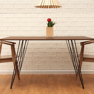 Williams Dining Table Finish: Black, Size: 30 H x 54 L x 46 W