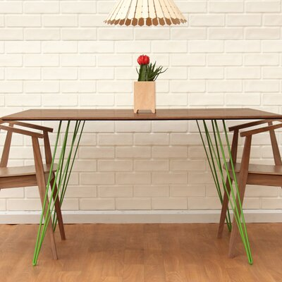 Williams Dining Table Finish: Green, Size: 30 H x 54 L x 46 W