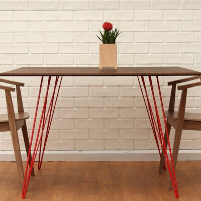 Williams Dining Table Color: Red, Size: 30 H x 54 L x 46 W