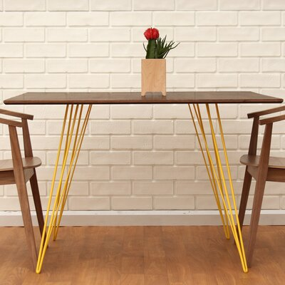 Williams Dining Table Color: Yellow, Size: 30 H x 54 L x 46 W