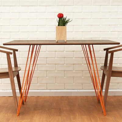 Williams Dining Table Color: Orange, Size: 30 H x 46 L x 40 W