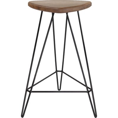 Madison Bar Stool Seat Finish: American Walnut, Base Color: Black