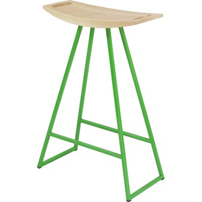 Roberts 24 Bar Stool Base Color: Green, Upholstery: Walnut
