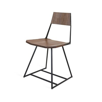 Clarke Solid Wood Dining Chair Color: Walnut/Black