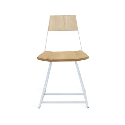 Clarke Solid Wood Dining Chair Color: Maple/White