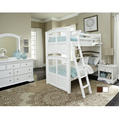Javin Standard Bunk Bed Finish: White, Configuration: Twin over Twin