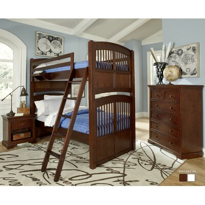 Javin Standard Bunk Bed Configuration: Twin over Twin, Finish: Chestnut