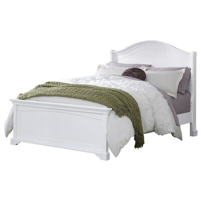 Javin Kids Arch Bed Finish: White, Size: Full