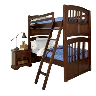 Javin Standard Bunk Bed Finish: White, Configuration: Twin over Full