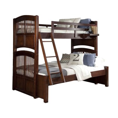 Javin Standard Bunk Bed Color: White, Size: Twin over Full