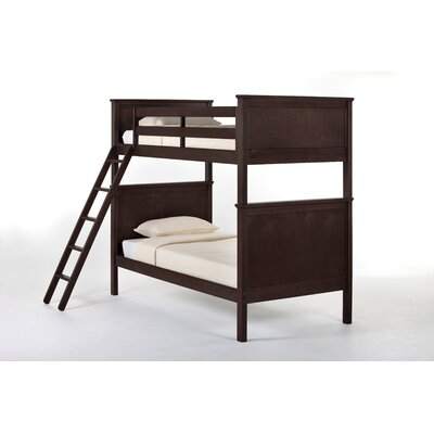 School House Bunk Bed Size: Twin/Twin, Color: Chocolate