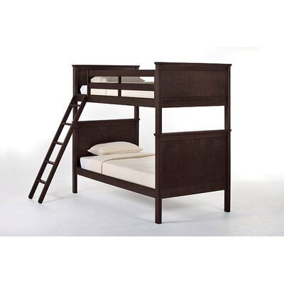 School House Bunk Bed Size: Twin/Twin, Finish: Chocolate