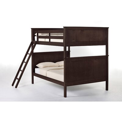 School House Bunk Bed Size: Full/Full, Finish: Chocolate