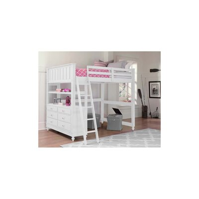 Lake House Loft Bed Color: White, Configuration: Full