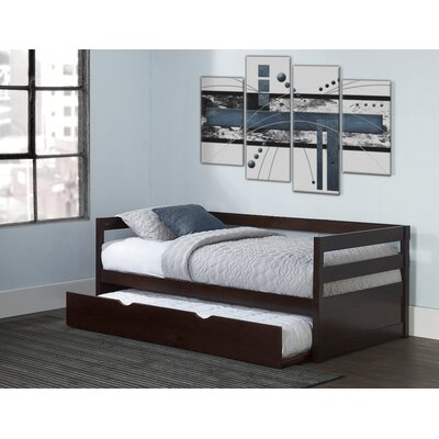 Felipe Daybed with Trundle Bed Frame Color: Chocolate