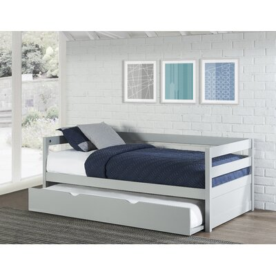Felipe Daybed with Trundle Bed Frame Color: Gray
