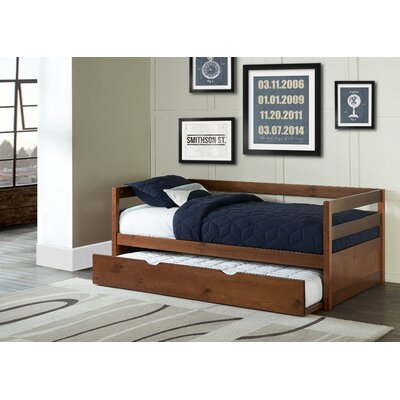 Felipe Daybed with Trundle Bed Frame Color: Walnut