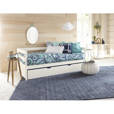 Felipe Daybed with Trundle Bed Frame Color: White