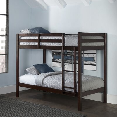 Felipe Twin Over Twin Bunk Bed Bed Frame Color: Chocolate