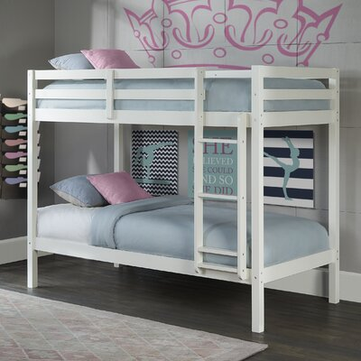 Felipe Twin over Twin Bunk Bed Bed Frame Color: White