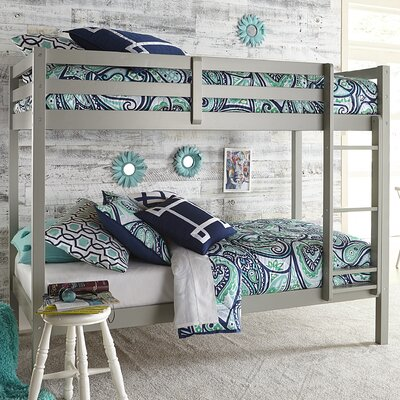 Felipe Twin Over Twin Bunk Bed Bed Frame Color: Gray