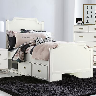 Angus Panel Bed with Two Storage Drawer Units Size: Twin
