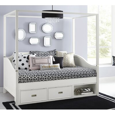 Jereme Canopy Daybed with Storage Unit Size: Full