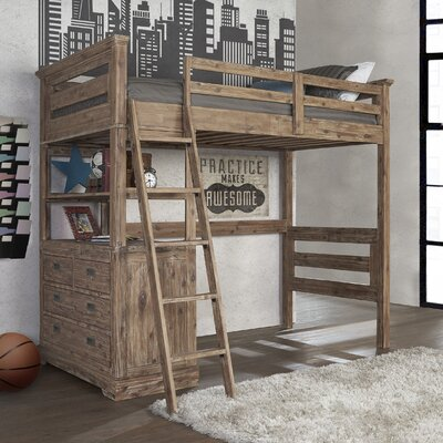 Berrima Loft Bed with 4 Drawer Chest End