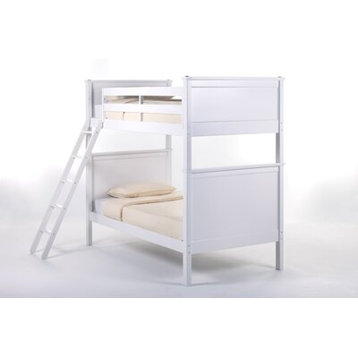 School House Bunk Bed Size: Twin/Twin, Finish: White