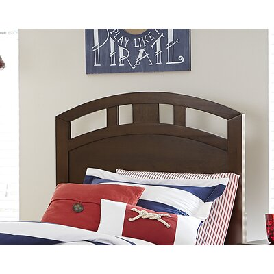 Pulse Arch Panel Headboard Size: Twin, Color: Chocolate