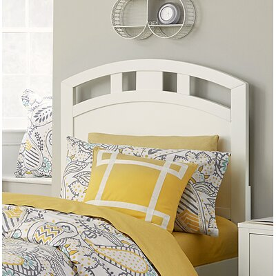 Pulse Arch Panel Headboard Size: European King, Color: White